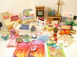 fisher price loving family huge  40 piece  furniture lot and accessories!!