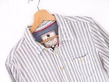 j2072 Fat Face Camisa Top Original PREMIUM VINTAGE Forrado Descolorido rayas