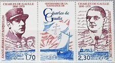 ST. PIERRE MIQUELON SPM 1990 605-06 548a Charles de Gaulle Resistance Call MNH