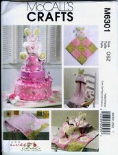 ReducedMcCall 6301 Baby Toy-Decoration-Blanke- Hooded Towel& Diaper Cake Pattern