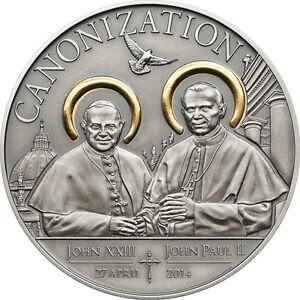 Tanzania 2014 1000 Shillings Canonization of John Paul II Silver Coin