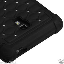 LG Optimus L9 T-Mobile P769 HYBRID SPOT DIAMOND CASE SKIN COVER BLACK