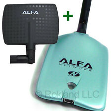 Alfa AWUS036NH 2000mW USB Wireless Wi-Fi Adapter + APA-M04 7 dBi PANEL ANTENNA