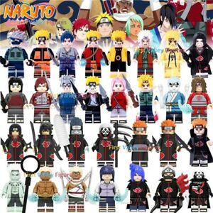 8pcs Naruto Sasuke Sakura Hinata Kakashi Anime Ninja Figure for Lego Minifigure