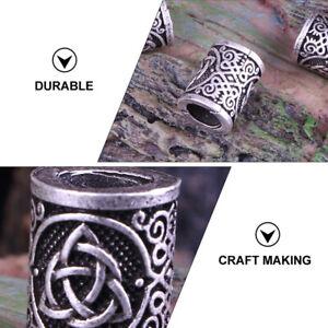 6pcs Viking Beard Beads Alloy Celtic Knot Hair Tube Hair Accessories Decoration