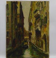 ''Venice canal with Gondola'' by Gino Salviati