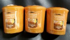 Yankee Candle VOTIVE candles PUMPKIN PIE --  Lot of 3 NEW