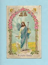 JESUS With LAMB Beautiful INSPIRATIONAL Vintage 1914 German-Made EASTER Postcard
