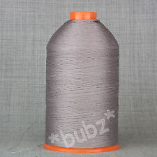 Bonded Nylon Hilo de Coser 40s Tkt Grande 3,500m Carrete Reparación De Cuero Gris Beige 40