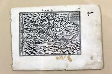 Original Antique Map of LIMAGNE France by ORTELIUS circa 1600 Early Engraving