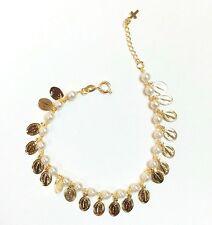 18k Gold Filled Pearl Virgin Mary Bracelet Oro Laminado Pulsera Virgen Maria