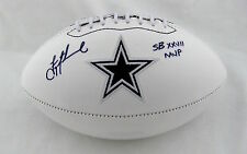 Troy Aikman Signed autographed Dallas Cowboys White Logo Football W/SB MVP GTSM