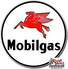 "GARGO-2 12/"" square MOBIL MOBILOIL GARGOYLE DECAL OIL CAN GAS PUMP GASOLINE"