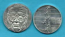 More details for finland. 1970 & 1971 10 markkaa. 2 silver coins. athletics & president paasikivi