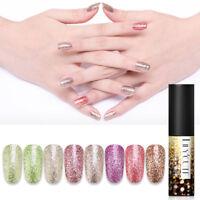 LILYCUTE 5ml Platinum Glitter Gel Polish Shining Soak Off UV Gel Nail Varnish