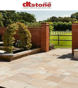 FAWN BEIGE ANTIQUED INDIAN SANDSTONE PATIO PAVING STONE
