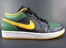 Nike Air Jordan 1 Retro Low Mens Green & Yellow Gold Shoes Size 8   553558-037