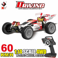 Wltoys 144001 1/14  4WD 60km/h High Speed Brushed RC Car Buggy Drift Car RTR Red