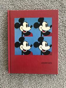 Disney 1994 Mickey Mouse Andy Warhol Art Address Book