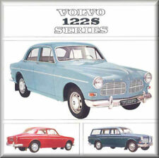 1965 Volvo 122s Series, Flat Flexible Refrigerator Magnet, 40 Mil thick