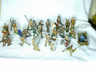 Lot of 27 VINTAGE BARCLAY/MANOIL  METAL FIGURE ARMY TOY SOLDIERS  1930s - 40s
