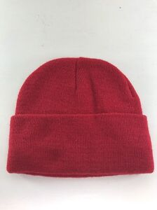 Plain Red Winter Beanie, Small Or Child's, New