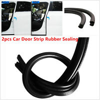 Car Door B Pillar Seal Strip Rubber Sealing Strips Rear Edge Trim Windproof 2Pcs