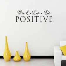 Think Do Be Positive Vinyl Wall Sticker Quote words Art Home Decal Saying DIY