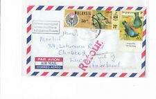 Malaysia Year 2000's cover from JB postally sent to Singapore