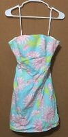 LILLY PULITZER Ladie's Floral Sun Dress Spaghetti Straps Size 2