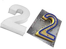 Small Number Two Birthday Wedding Anniversary Cake Tin   10  x 8   2.5  deep