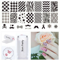 Born Pretty Nail Image Stamping Templates Polish Stamp Plate Scraper Stamper Kit