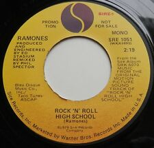 """Ramones - Rock N Roll High School USA 1979 Sire Promotional 7"""" Single with P/S"""