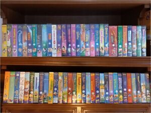 WALT DISNEY CAPOLAVORI 60 CASSETTE VHS ORIGINALI DA COLLEZIONE funzionanti
