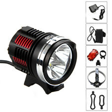 10000LM 3x XM-L2 LED Front Bicycle Mountain Bike Light Headlamp  Battery