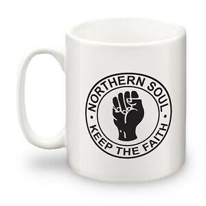 Northern Soul Keep The Faith Fist Logo Ceramic 10oz Mug. Mod, Northern Soul, Ska