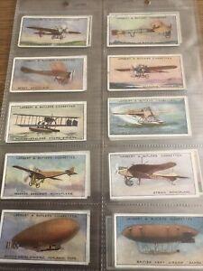 CIGARETTE CARDS Lambert & Butler 1915 Aviation Full set In Plastic Sleeves