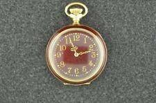 """BEAUTIFUL VINTAGE 0S WALTHAM SEASIDE 14K SOLID GOLD AND ENAMEL POCKET WATCH """"RED"""