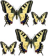 4x sticker adesivi adesivo pc wall auto moto farfalla farfalle black murali
