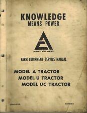 Allis Chalmers Vintage A U Uc Tractors Service Manual Oem