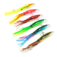 NE_ 40g 14cm Squid Shape Artificial Fish Lure Bait Sea Ocean Fishing Tackle Dote