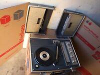 National (Panasonic) SG-760A Stereo Portable Phonograph - Record Player