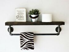 Dark Walnut Stained Pipe Towel rack
