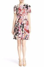 NEW Just Cavalli Floral Print Keyhole Jersey Dress- Pink combo 38 $745