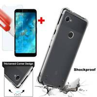 For Google Pixel 3a Slim Soft TPU Clear Silicone Bumper Shockproof Case Cover