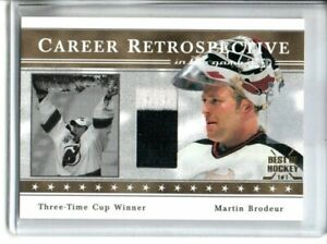 2003-04 ITG GAME USED SIGNATURE SERIES MARTIN BRODEUR 2 COLOR GAME USED