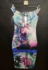 Lipsy Palm Rib Bardot Bodycon Dress Size uk 6 💗