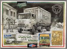 POSTER CAMION RéTRO SCANIA VABIS L76 1963-1968   56X42cm