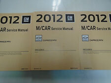 2012 Chevrolet Chevy Caprice Police Vehicle Repair Service Shop Manual Set NEW
