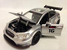 """2016 Subaru WRX STI Widebody JDM TUNERS 8.25"""" Diecast 1:24 Jada Toy Silver"""